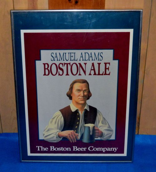 SAMUEL ADAMS BOSTON ALE WALL SIGN,