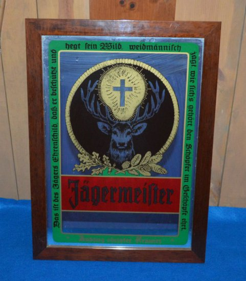 "JAGERMEISTER MIRRORED SIGN, 16""W X 22""H"