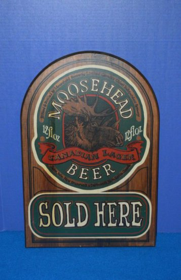 MOOSEHEAD BEER WOOD WALL SIGN,