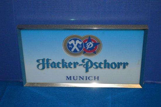 "HACKER-PSCHORR MUNICH 3D SIGNAGE, 21""W X 12""H"