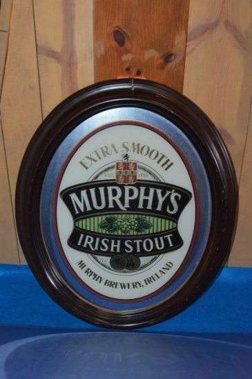 MURPHY'S EXTRA SMOOTH IRISH STOUT BEER SIGN,