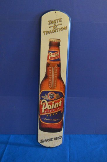 POINT SPECIAL WALL THERMOMETER TIN SIGNAGE,