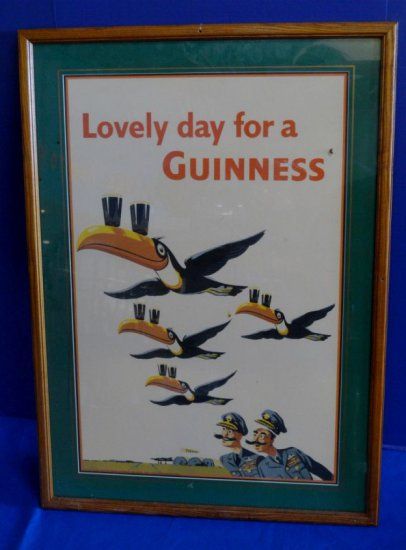"(1955) ""LOVELY DAY FOR A GUINNESS"" PRINT"