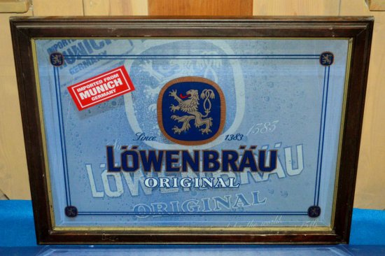 LOWENBRAU ORIGINAL MIRRORED SIGN,