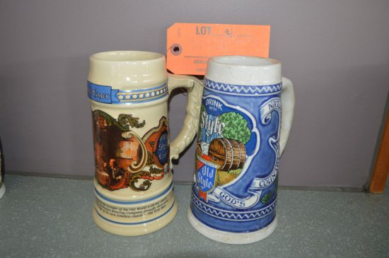(2) OLD STYLE BEER STEINS 1991 AND 1982