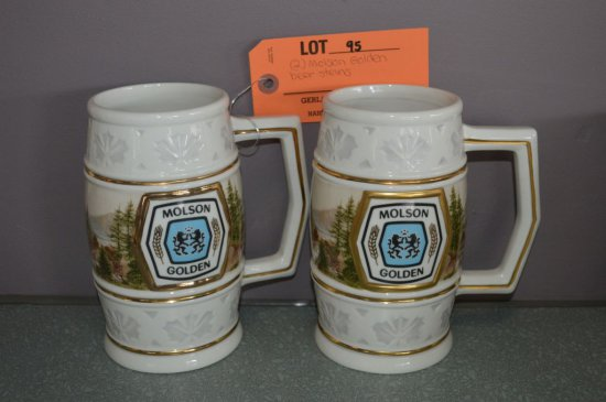 (2) MOLSON GOLDEN BEER STEINS