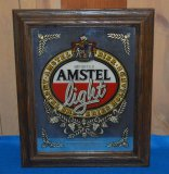AMSTEL LIGHT MIRRORED SIGN, 15
