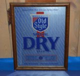 OLD STYLE SPECIAL DRY BEER MIRRORED SIGN,