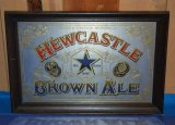 NEWCASTLE BROWN ALE MIRRORED SIGN,