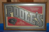 POOLE'S FRUIT LIQUEUER MIRRORED SIGN,