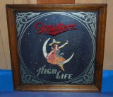 MILLER HIGH LIFE MIRRORED SIGN, 18 1/2