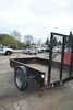 2013 8' SINGLE AXLE UTILITY TRAILER, MODEL SST58,