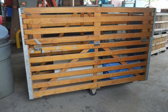 Wooden Slat Crate On Casters Auctions Online Proxibid