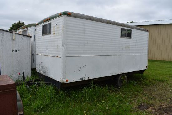16' ENCLOSED JOB SITE TRAILER, SINGLE AXLE