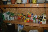 MISC. LOT WITH FLOWER POTS AND FERTILIZERS;