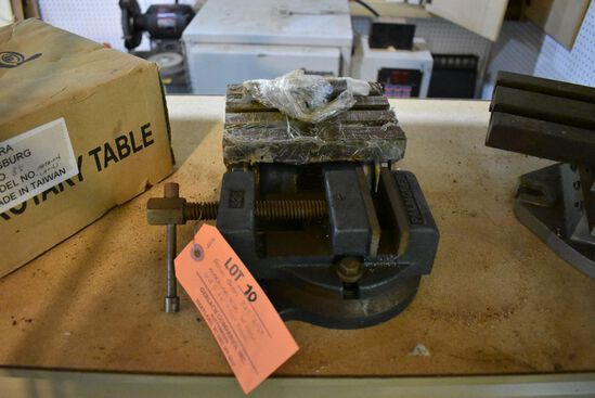"PALM GREN325 3-1/2"" MACHINE VISE W/BASE & 5"" X 6"" T-SLOT TABLE"