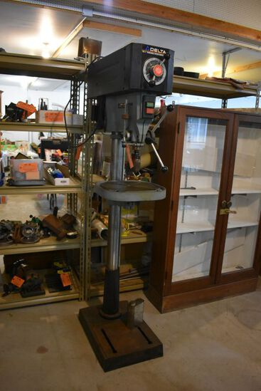 "DELTA 16-1/2"" VARIABLE SPEED DRILL PRESS,"