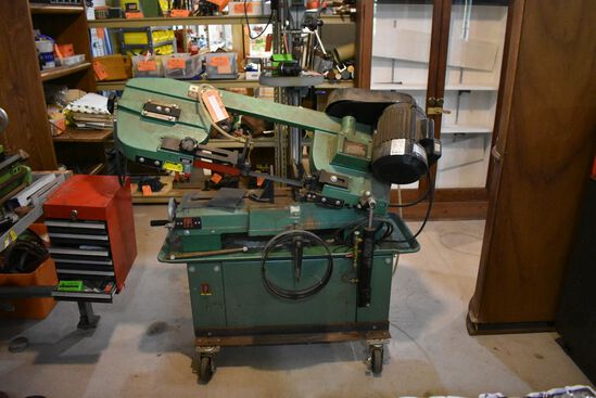 "(1993) GRIZZLY 7"" HORIZONTAL BAND SAW, MODEL G1758,"