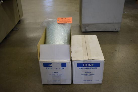 (2) ROLLS OF ULINE PVC SHRINK WRAP, S-6574,