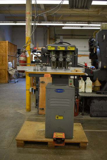 CHALLENGE PAPER DRILL, 3 SPINDLE, MODEL EH-3A,