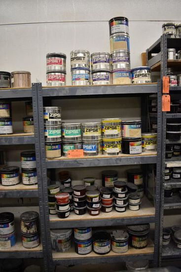 ALL PRESS COLOR AND ZIPSET INK, VARIOUS COLORS,