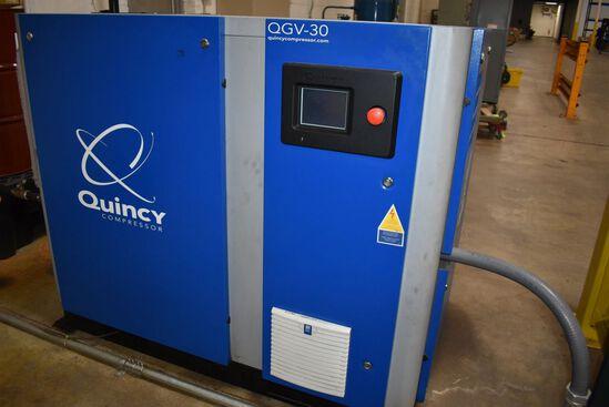QUINCY AIR COMPRESSOR, MODEL QGV-30,
