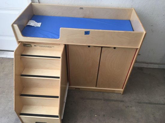 204676879ff1 Jonti Craft changing table with steps and cabinet new- 4ftx22