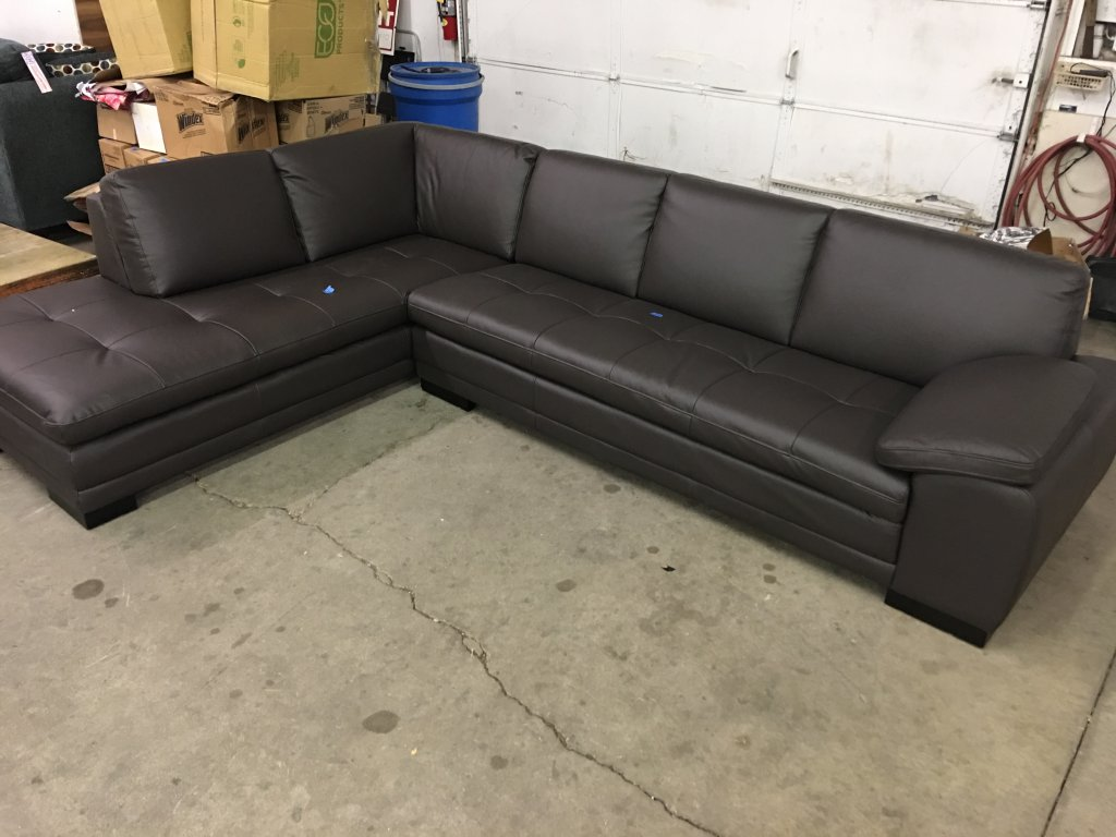 Brown Leather Like sectional Brand New