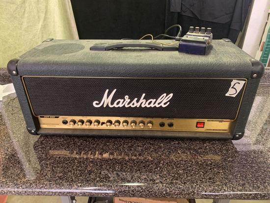 Marshall valvestate 2000 AVT 50H pre amp with DOD DFX9 digital delay untested