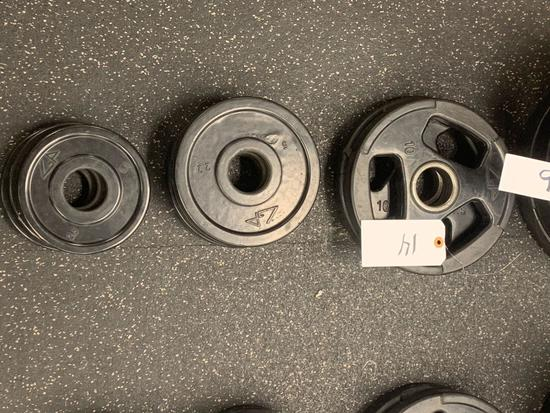 GP Rubber Coated Grip weights 2-10lbs 3-5lbs and 3-2.5lbs 8 times the money