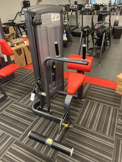Cybex VR3 abdominal machine adjustable weights up to 230lbs belt driven