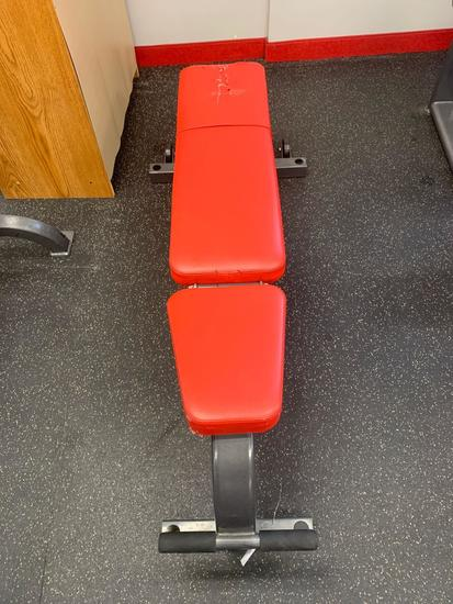 Cybex flat and adjustable incline bench on wheels