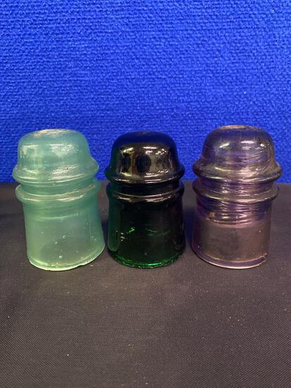 Antiques Collectables Rare glass Insulators, plus