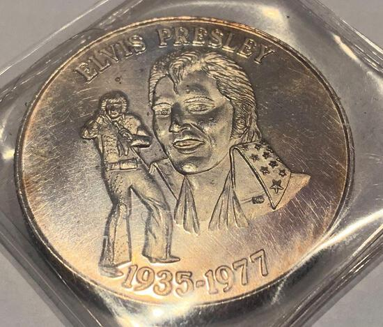 Elvis Presley One Troy Ounce Silver