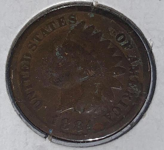 1884 Indian Head Penny F
