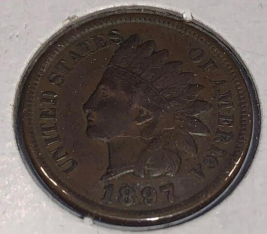 1897 Indian Head Penny MS
