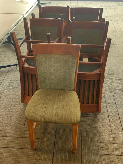 9x-Green padded chairs with Green padded back