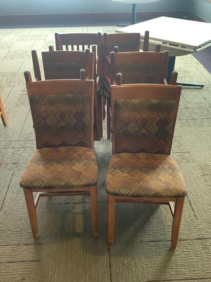10x-Autumn Color padded Chairs with wooden back