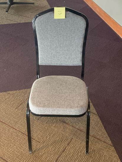 50x-Gray padded Chairs only 1 year old used 5 times