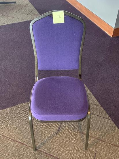 50x-Purple padded Chairs excellent chairs
