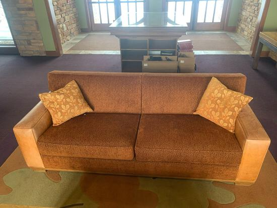 Leather Swaim Upholstery Couch and cloth seats Nice!