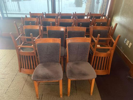 28x-Purple Padded chairs with purple padded back
