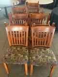 14x-Purple and black pattern padded chairs