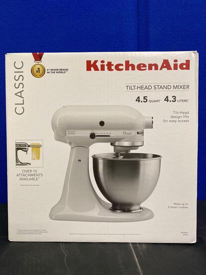 Classic White Kitchen Aid Stand Mixer