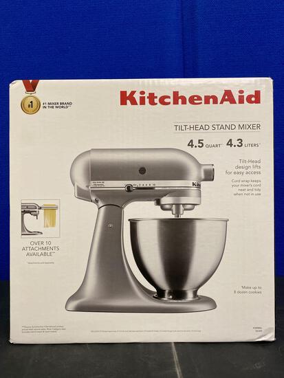 Silver Kitchen Aid Stand Mixer