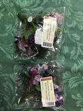 Miniature Sweet peas silk floral insert