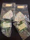 Miniature daisy Silk floral inserts, protector, and liners