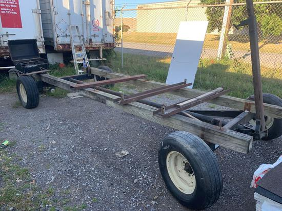 Very heavy duty (hay rack) was used for hauling scaffolding. Like new tires very heavy duty
