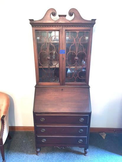 Antique Secretariat desk very nice original condition with key