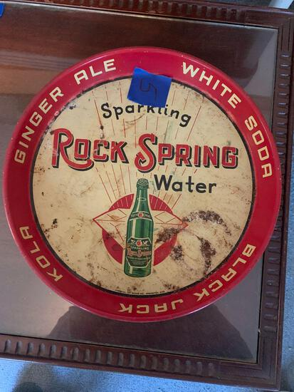 Sparkling rock Spring water tray original condition rare